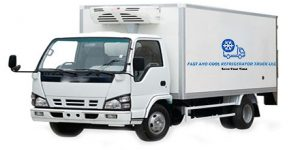 Refrigerated chiller truck for deliver, refrigerated transport agency in Dubai