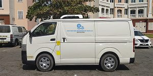 Chiller van for delivery